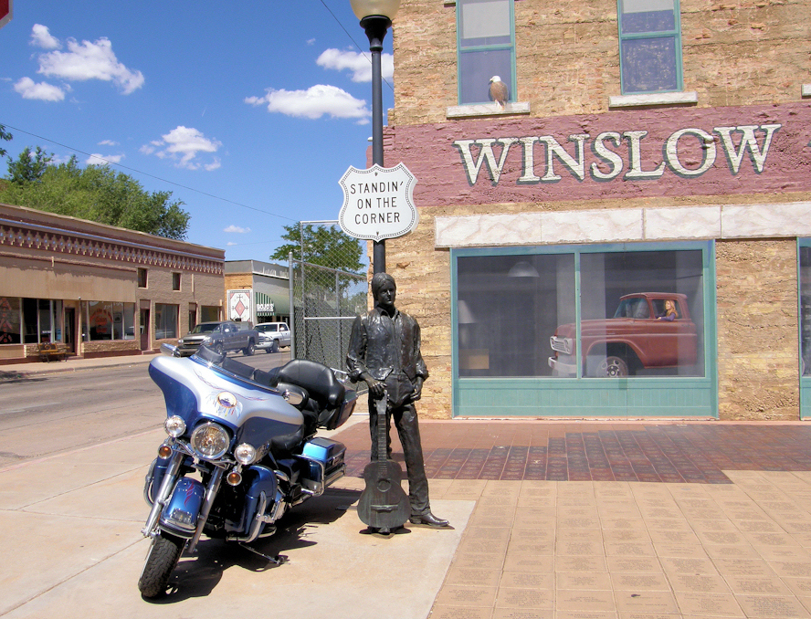 Standing on the corner-Winslow AZ
