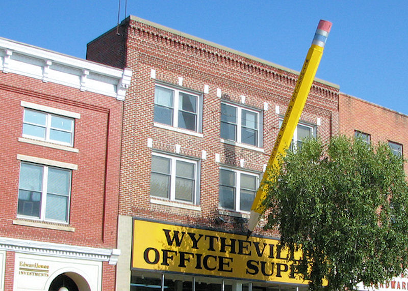 Wytheville's Giant Pencil
