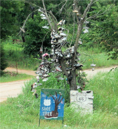 Route 66 Shoe Tree