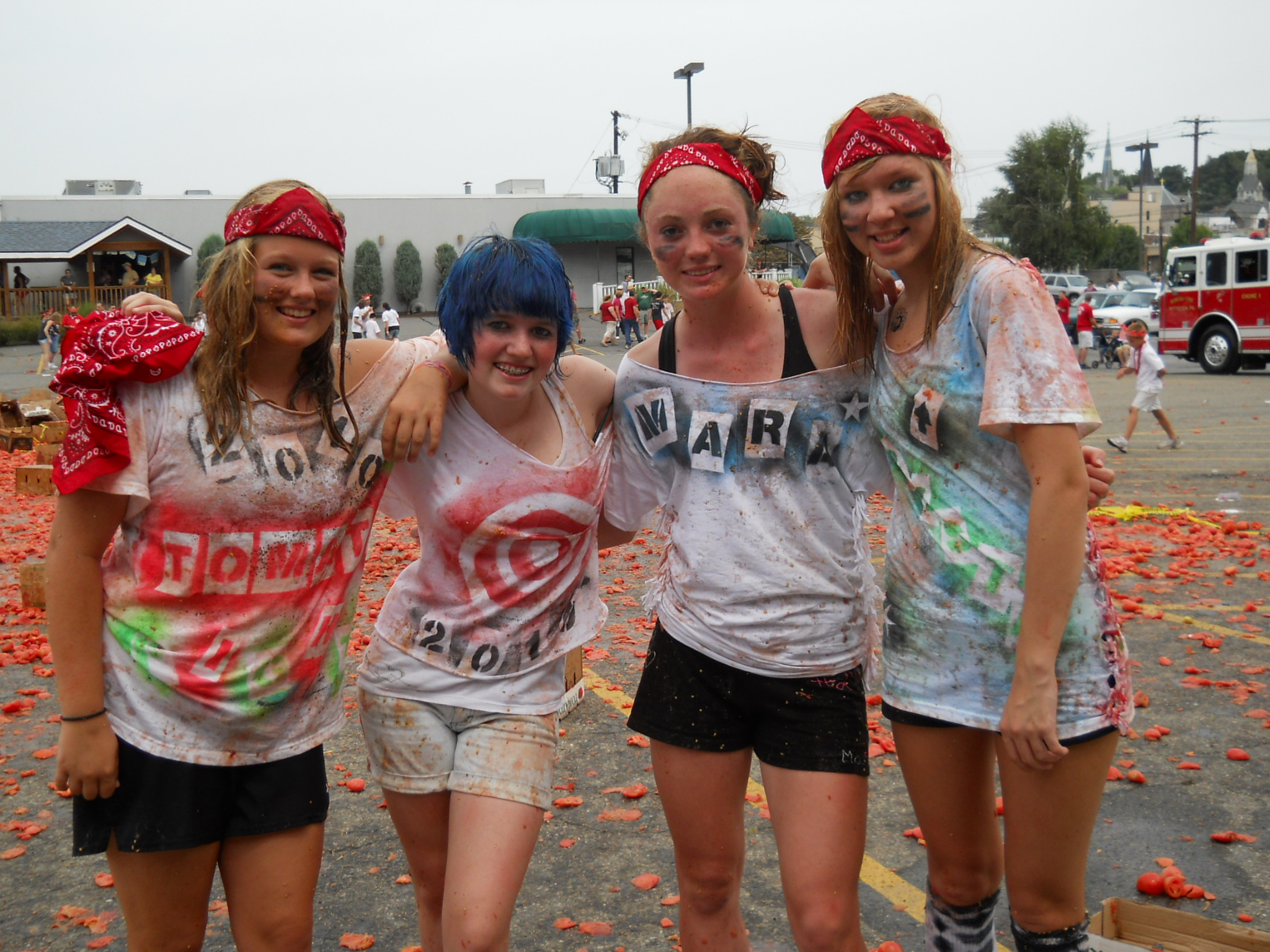 Pittston Tomato Fight!