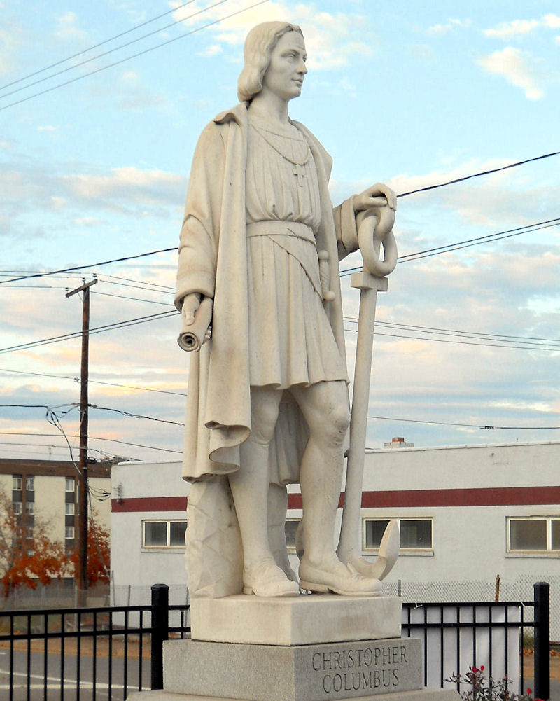 Pittston's Columbus Statue