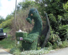 Topiary Dragon Mailbox